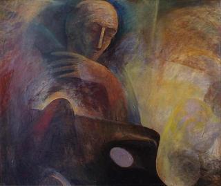 Daidalos, Öl/Lw., 120x150 cm