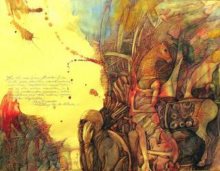 Aquarell Descartes - die Methode von Jon Mincu, Maler, Grafiker, Illustrator aus Berlin