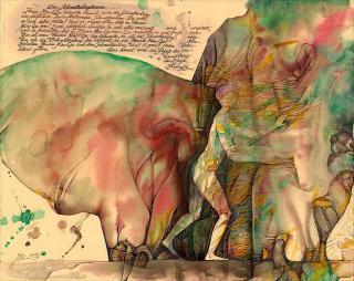 Aquarell Schmetterlingstraum von Jon Mincu, Maler, Grafiker, Illustrator aus Berlin