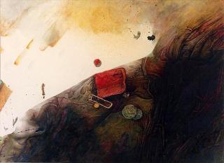 Aquarell Archäologia von Jon Mincu, Maler, Grafiker, Illustrator aus Berlin