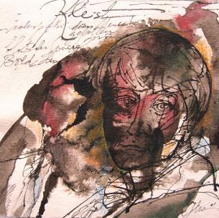 Aus dem Zyklus Kleist - Bilder einer Biographie - Illustration von Jon Mincu, Fine-Press-Atelier, Berlin