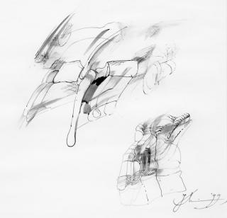 Peter Stephan, Poesien (II) - Illustration von Jon Mincu, Fine-Press-Atelier, Berlin - Künstler, Illustrator, Zeichner, Maler für Kunst, Wissenschaft, Belletristik und Kinderbücher