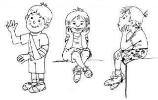Drei Knaben - Kinderbuch-Illustration von Jon Mincu, Fine-Press-Atelier, Berlin - Künstler, Illustrator, Zeichner, Maler für Kunst, Wissenschaft, Belletristik und Kinderbücher