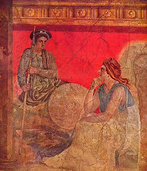 Antigonos und seine Mutter, Pompejanischer Maler, ca. 40 v. Chr.