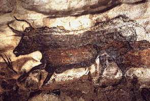 Stier, Höhlenmalerei, Lascaux, Frankreich, ca. 18000 v. Chr. (Quelle: wikimedia.org).